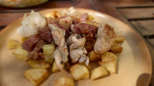 recept melegétel főétel húsétel sertés szűzérme sonka szalonna