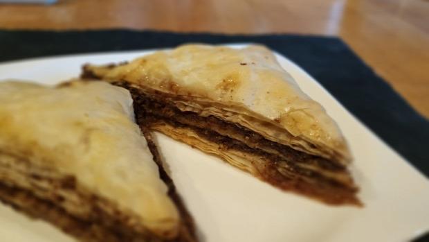 recept tészta édesség keleti dió baklava csoki