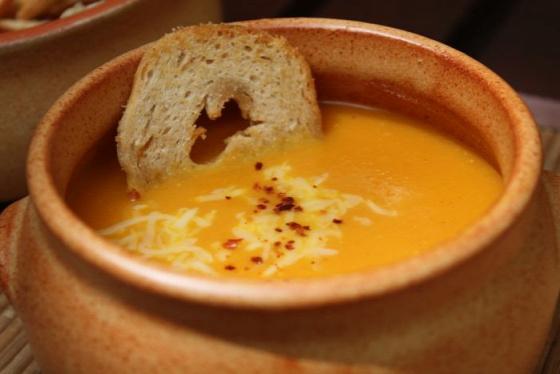 Főétel melegétel leves sárgarépa krémleves