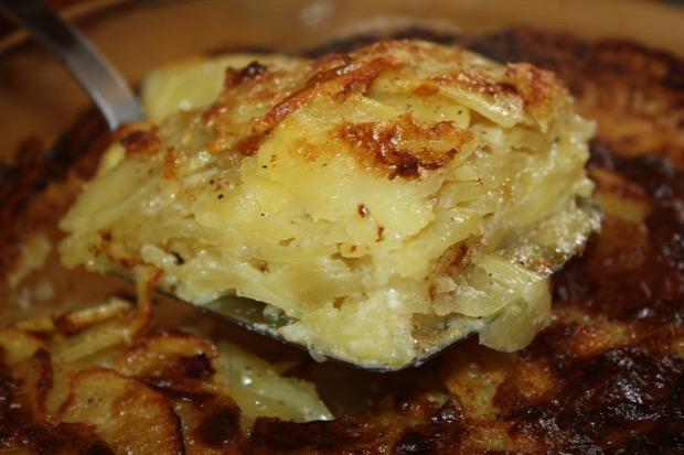 recept főétel melegétel köret gratin krumpli körte