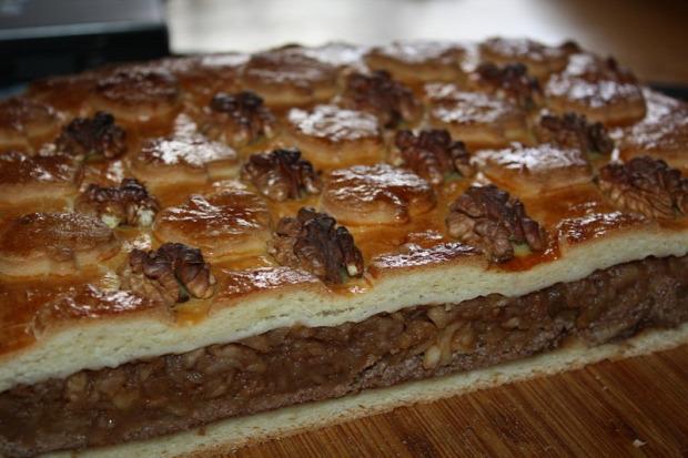 recept sütemény pite alma dió méz