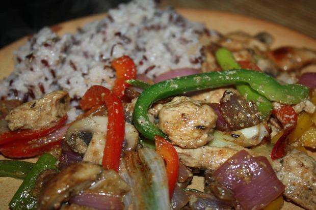 recept főétel melegétel húsétel csirke zöldség hagyma paprika gomba