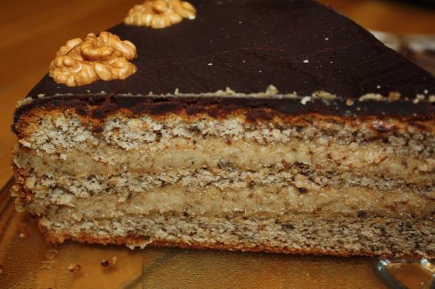recept sütemény torta dió tejszín csokoládé