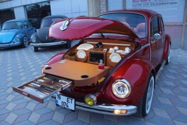 Hétvégi dizájn kemping főzés VW Volkswagen bogár