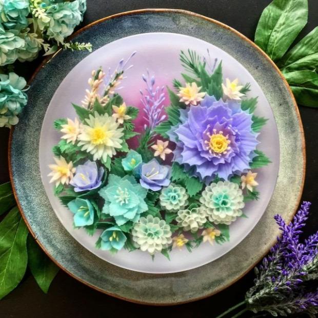 dizájn törta sütemény zselé virák