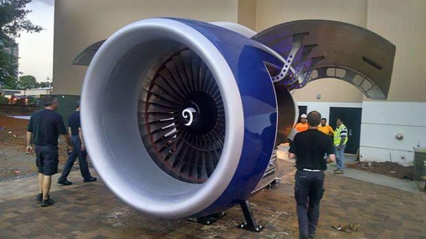 dizájn BBQ grill repülőgép hajtómű