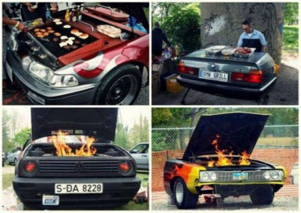 grill sütő autó