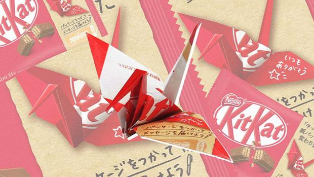 dizájn kit-kat origami