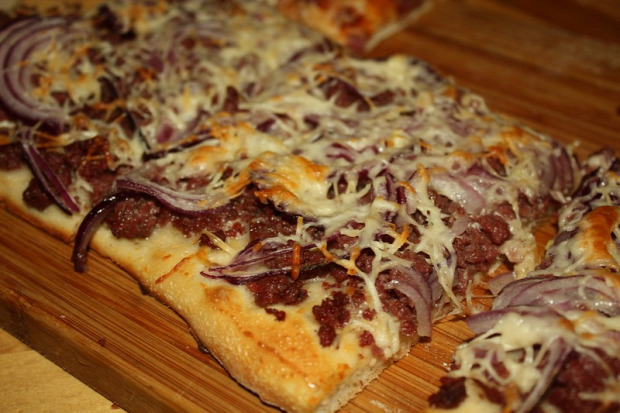 recept tészta sós lepény marhahús krémsajt