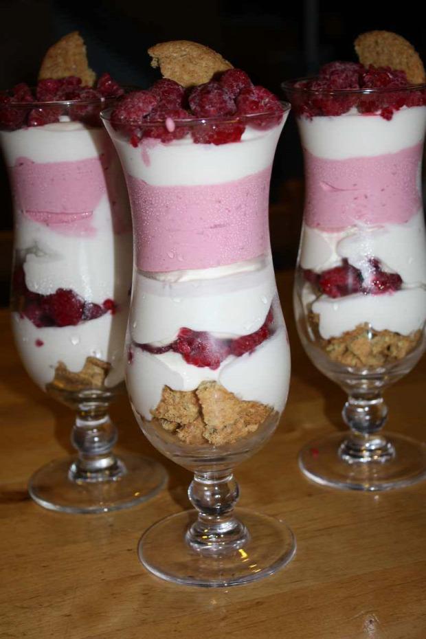 recept édesség hideg főzésnélkül málna mascarpone joghurt