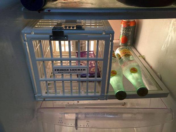 hétvégi dizájn hűtőszekrény zárható kosár