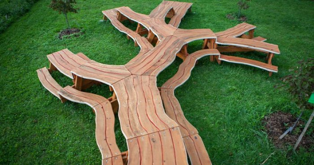 dizájn asztal piknik