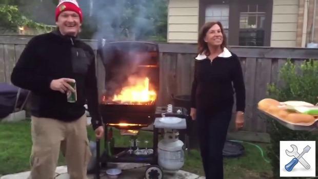 BBQ grill hiba baleset tűz