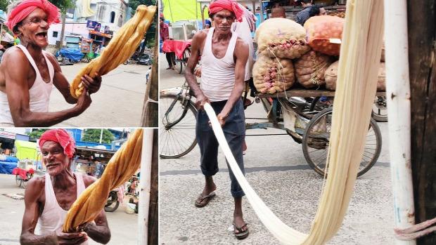 Street Food Thaiföld cukorka jaggery öreg