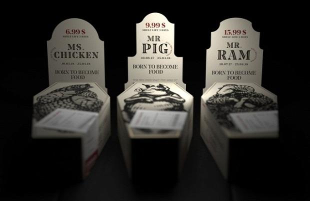dizájn csomagolás hús