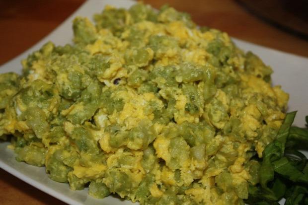 recept főétel tészta melegétel tojásos nokedli medvehagyma
