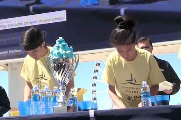 videó evőverseny mályvacukor