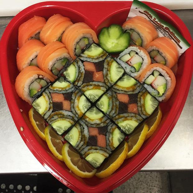 hétvégi dizájn sushi szusi mozaik