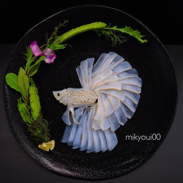 dizájn étel tálalás japán szasimi