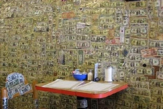 dizájn kávézó dollár tapéta egydolláros