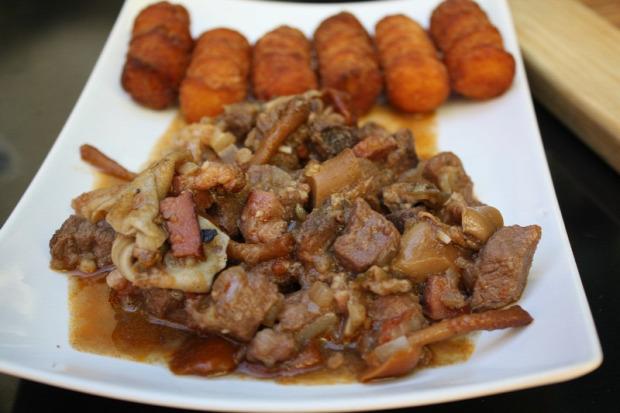 recept főétel húsétel melegétel vad vaddisznó gomba erdei páclé