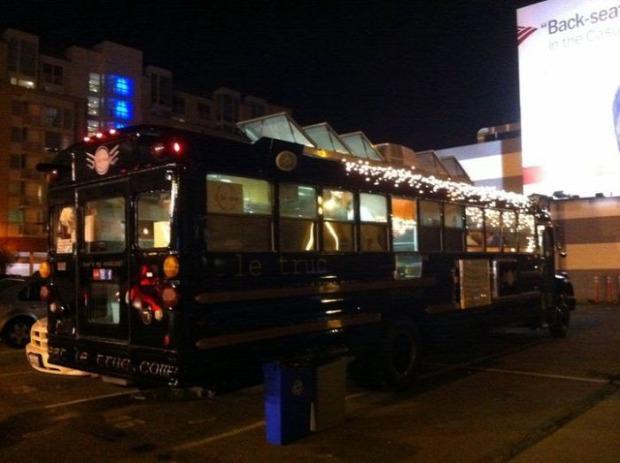 dizájn busz étterem