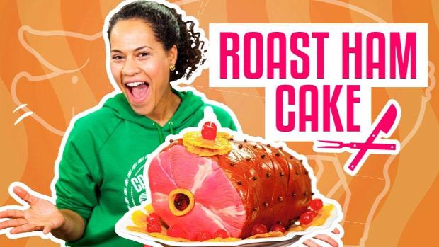 videó dizájn torta sonka
