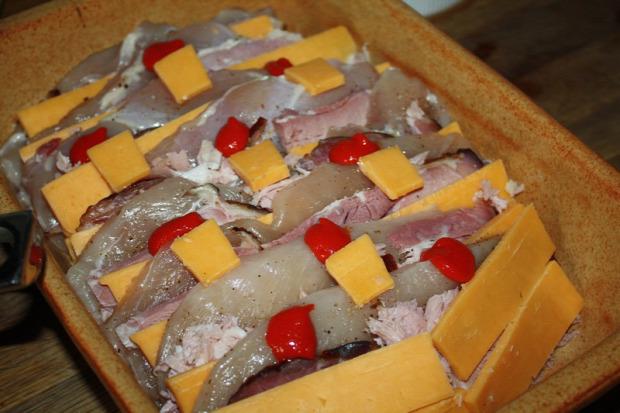 recept melegétel főétel húsétel csirke mell sonka sajt