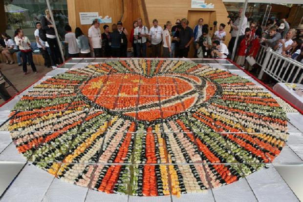 világcsúcs szusi sushi mozaik