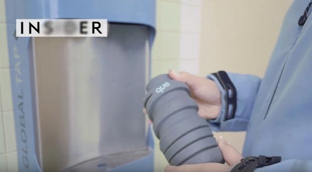 videó dizájn palack kulacs összecsavarható