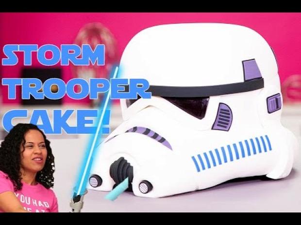 videó torta SW Star Wars rohamosztagos sisak