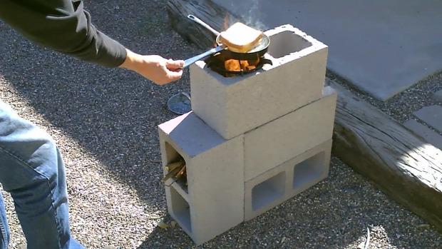 dizájn kert tűzhely beton
