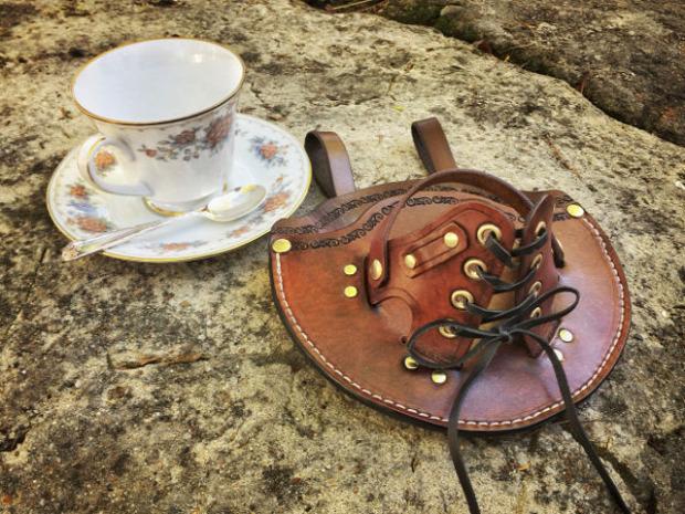 dizájn teáscsésze steampunk tartó