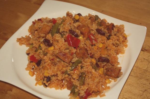 Recept főétel melegétel egytálétel hús rizs sertés zöldség texas mexikó
