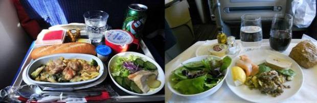 Hétvégi dizájn légitársaság menü turistaosztály business class