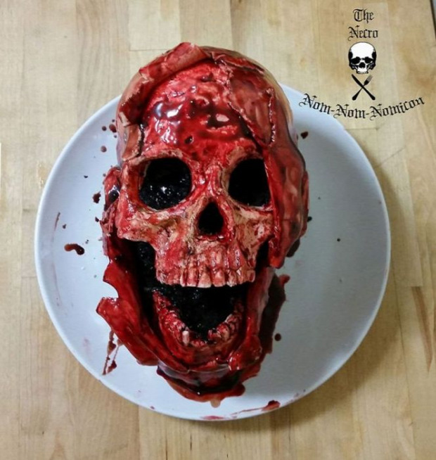dizájn sütemény horror kkoponya