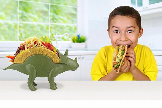 hétvégi dizájn dínó triceratops taco állvány