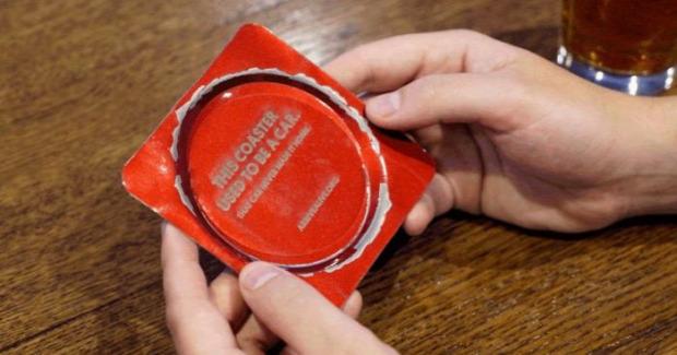 hétvégi dizájn bár Torontó poháralátét  autó baleset