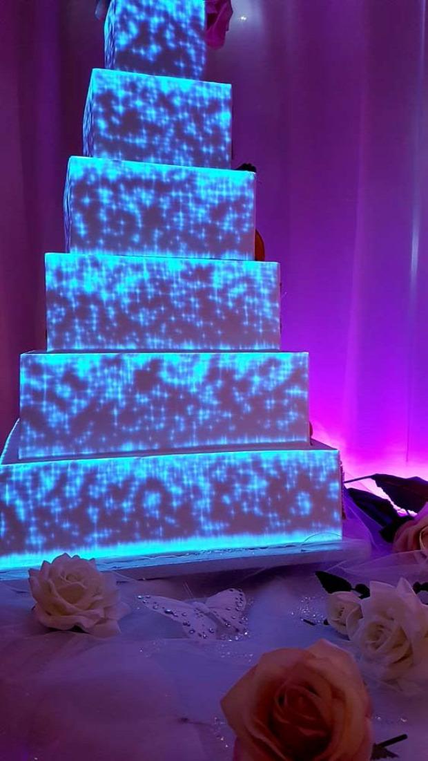 Hétvégi dizájn esküvő torta projektor