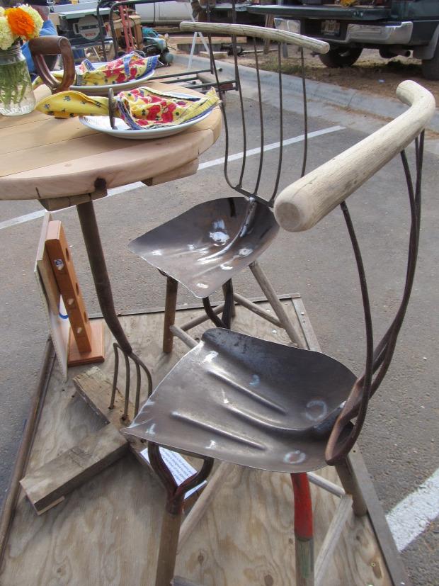 hétvégi dizájn bútor kert szerszám lapát vasvilla