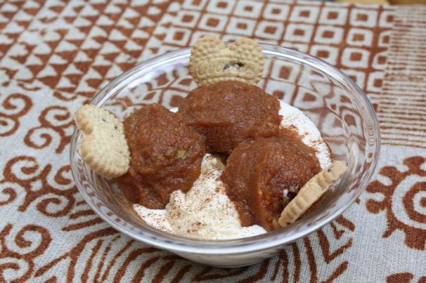 recept édesség fagylalt alma fahéj