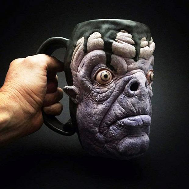 dizájn bögre kávés horror zombi