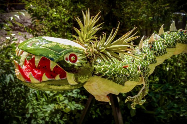 dizájn dinnye sárkány