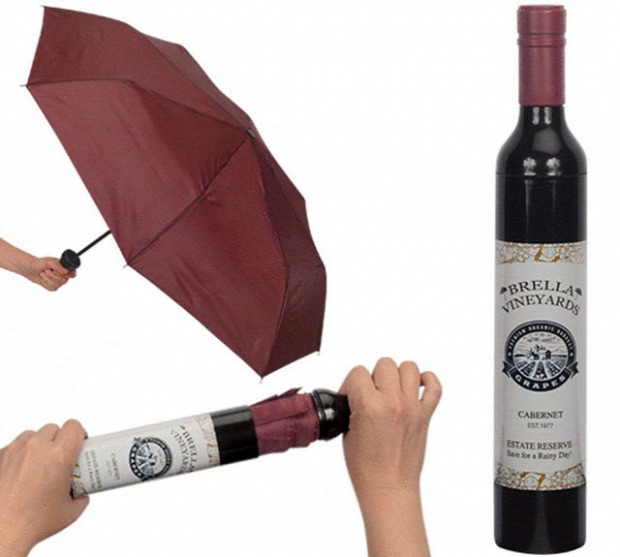 Hétvégi dizájn esernyő borospalack