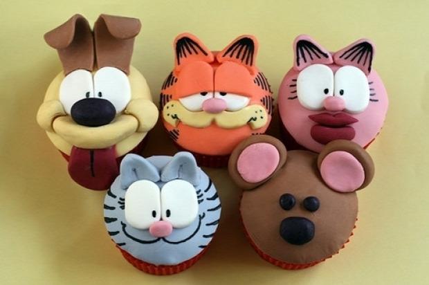hétvégi dizájn muffin Garfield