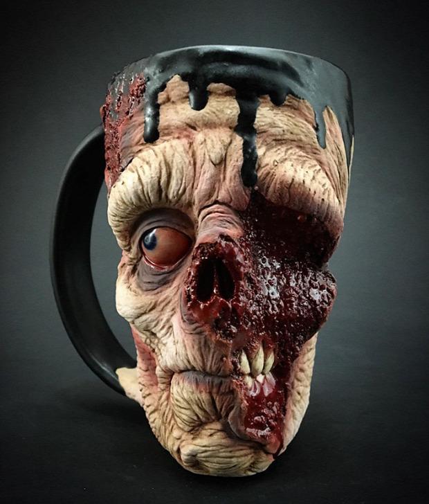 dizájn bögre korsó zombi