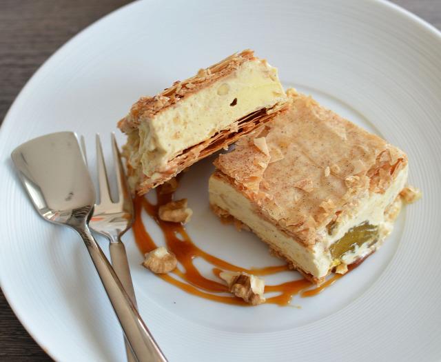 almás rétes desszert nyár fagylalt édesem sütemény alma kardamom vaníliafagylalt