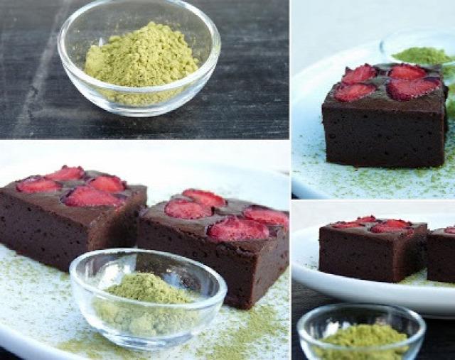 csokoládé eper selectfood sütemény zöldteapor