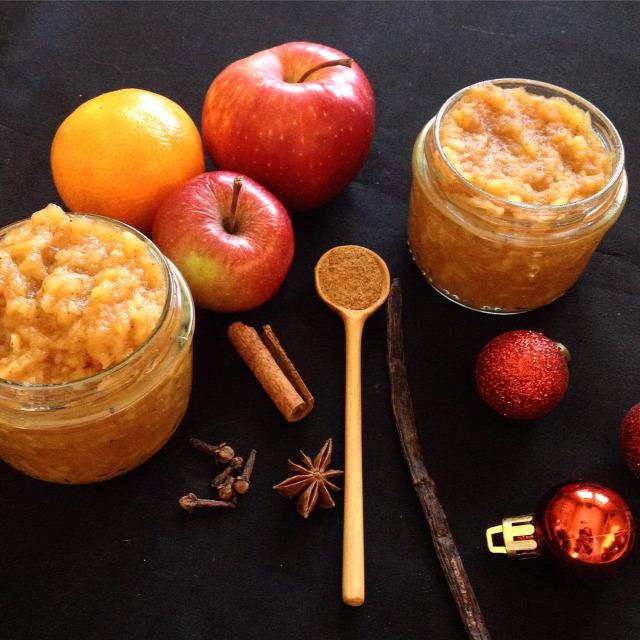 karácsony ajándék ehető ajándék almalekvár alma tél lekvár vegetáriánus vegán
