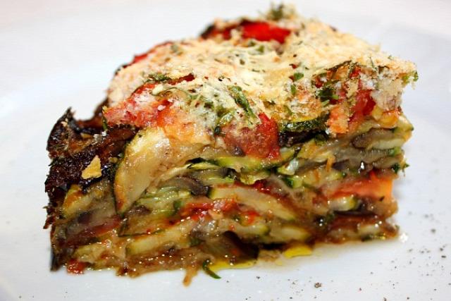 timbale cukkini padlizsán paradicsom rakott étel vegetáriánus húsmentes hétfő recept egytálétel